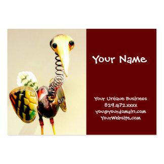 Arte popular de la grúa del pájaro del metal del tarjetas de visita grandes
