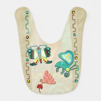 Arte popular de la mariposa 2 de Zuni Baberos De Bebé