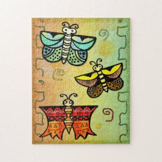 Arte popular de la mariposa de Zuni Puzzles
