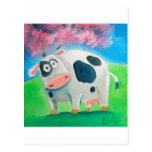 Arte popular de la vaca linda que pinta a Gordon B Tarjetas Postales