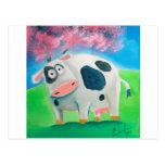 Arte popular de la vaca linda que pinta a Gordon B Postal