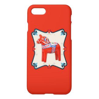 Arte popular del caballo de Dala del sueco Funda Para iPhone 7