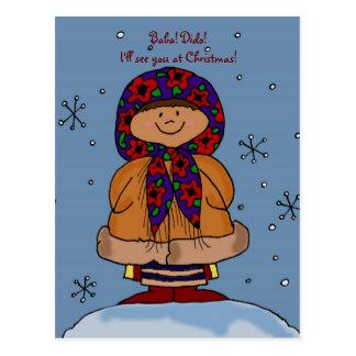 Arte popular del chica ucraniano de las Felices Tarjetas Postales