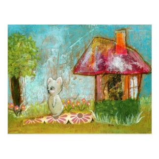 Arte popular del día del ratón caprichoso propicio postales