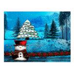 Arte popular del navidad del lago winter