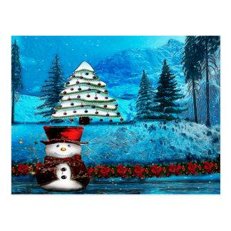 Arte popular del navidad del lago winter postales