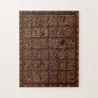 Arte popular del panel maya de Hieroglphics Puzzles