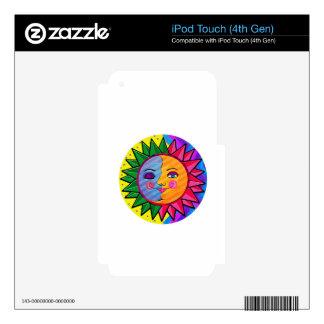 Arte popular del sol colorido skins para iPod touch 4G