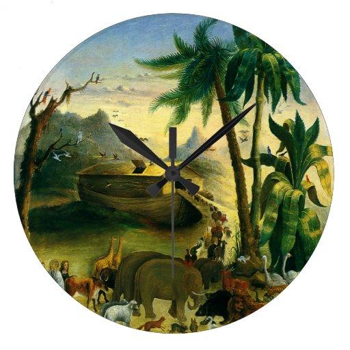 Arte popular del Victorian del vintage, la arca de Reloj Redondo Grande