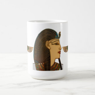 Arte popular egipcio del Pharaoh Taza Básica Blanca