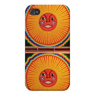 Arte popular mexicano de Sun del arte de la secuen iPhone 4/4S Fundas
