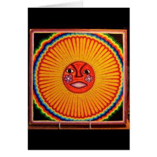 Arte popular mexicano de Sun del arte de la secuen Tarjeta De Felicitación