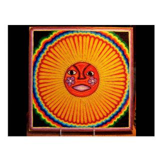 Arte popular mexicano de Sun del arte de la secuen Tarjeta Postal