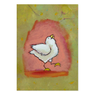 Arte popular moderno feliz lindo de la diversión d tarjetas de negocios