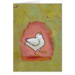 Arte popular moderno lindo del pollo de la diversi felicitacion