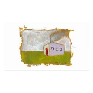 Arte popular moderno simple fresco único de la tarjetas de visita