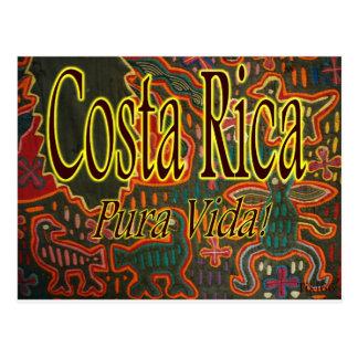 Arte popular Pura Vida de Costa Rica Postal