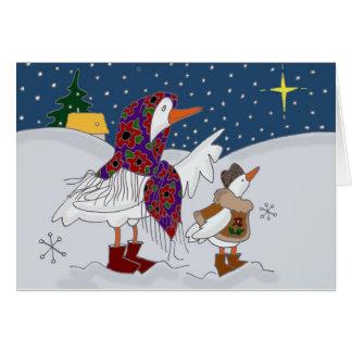 Arte popular ucraniano de Kachka del navidad (pato Tarjeta