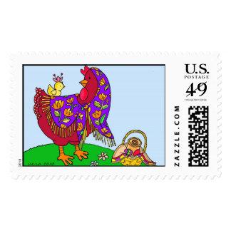 Arte popular ucraniano de la gallina de Pascua de Sello