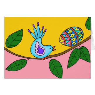 Arte popular ucraniano de la sorpresa de Pascua Tarjeta