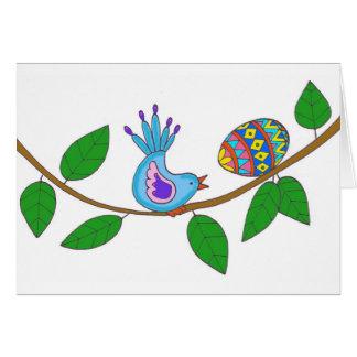 Arte popular ucraniano de la sorpresa de Pascua Tarjetas
