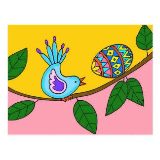 Arte popular ucraniano de la sorpresa de Pascua Postal