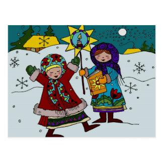Arte popular ucraniano de los Carolers ucranianos  Tarjetas Postales