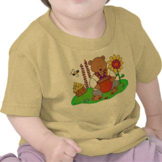 Arte popular ucraniano del oso de miel camisetas