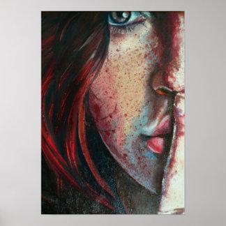 arte por el myspace 008 de la pintura al óleo del  póster