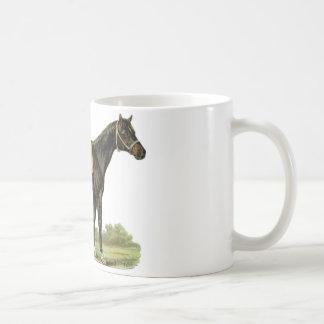 Arte precioso del semental del caballo del vintage taza clásica