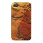Arte prehistórico de la cueva iPhone 4 fundas