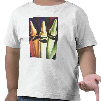 Arte primario de la acuarela del creyón del camiseta