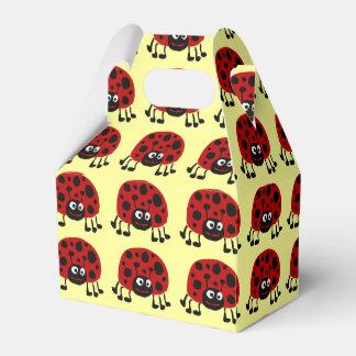 Arte primitivo Giftbox de la mariquita Cajas Para Regalos