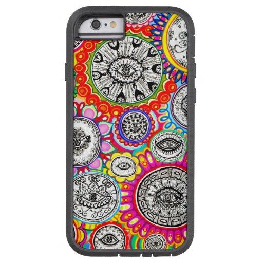 Arte psicodélico de los ojos funda de iPhone 6 tough xtreme