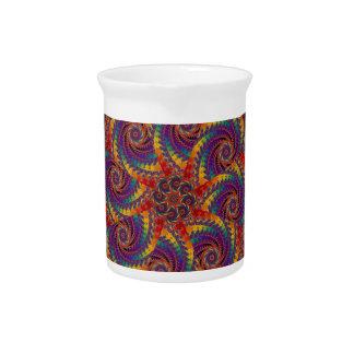 Arte psicodélico del fractal del arco iris del jarra