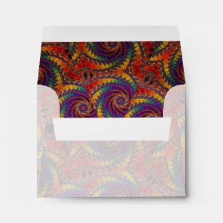 Arte psicodélico del fractal del arco iris del sobre