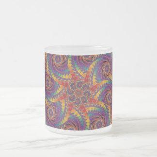 Arte psicodélico del fractal del arco iris del taza de cristal