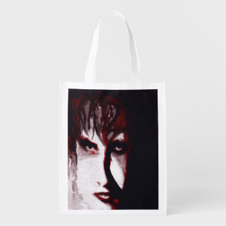 Arte punky del retrato del hombre de la música del bolsa para la compra
