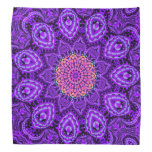 Arte púrpura adornado del caleidoscopio de las bandanas