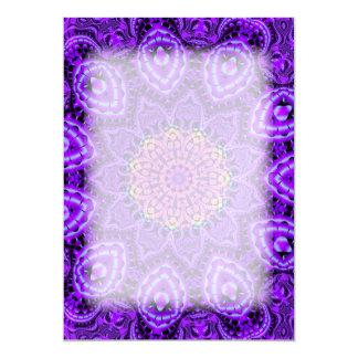 """Arte púrpura adornado del caleidoscopio de las invitación 5"""" x 7"""""""