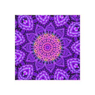 Arte púrpura adornado del caleidoscopio de las lona envuelta para galerías