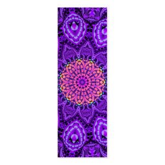 Arte púrpura adornado del caleidoscopio de las vib plantilla de tarjeta de negocio