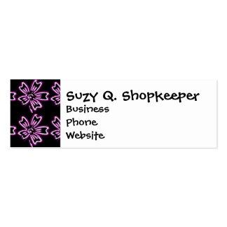 Arte púrpura bonito de la flor en estampado de tarjetas de visita mini
