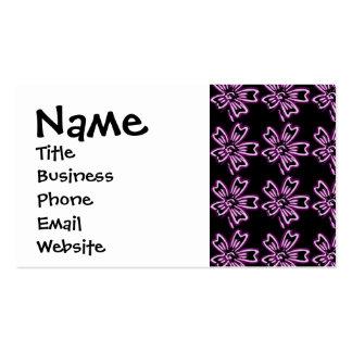 Arte púrpura bonito de la flor en estampado de tarjetas de visita