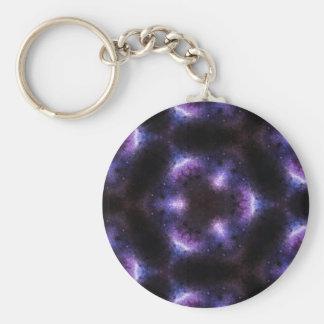Arte púrpura bonito del caleidoscopio del espacio llavero