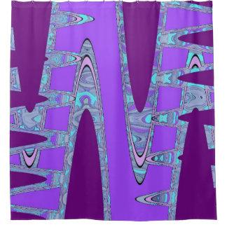 arte púrpura cortina de baño