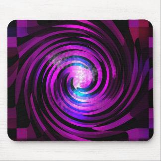 Arte púrpura de Abstraact de la onda Alfombrilla De Ratones