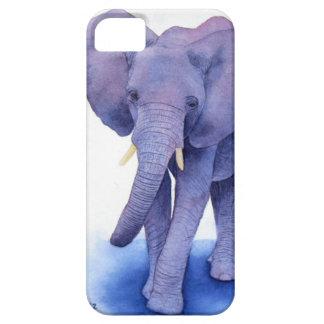 ¡arte púrpura de la acuarela del elefante en artíc iPhone 5 carcasa