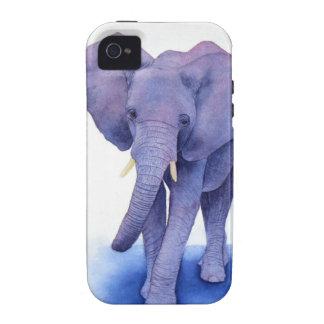 ¡arte púrpura de la acuarela del elefante en artíc vibe iPhone 4 carcasas