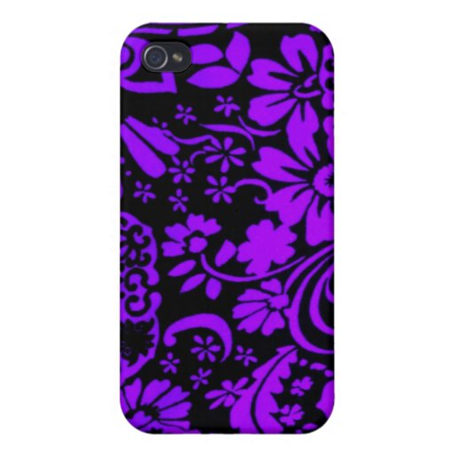 Arte púrpura de la alheña - casos artísticos del i iPhone 4/4S carcasa